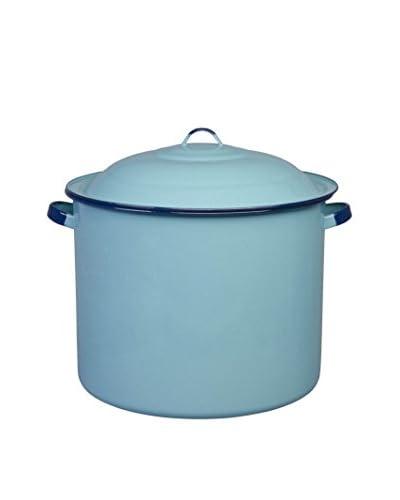 Cinsa 34-Qt. Stock Pot With Lid, Blue