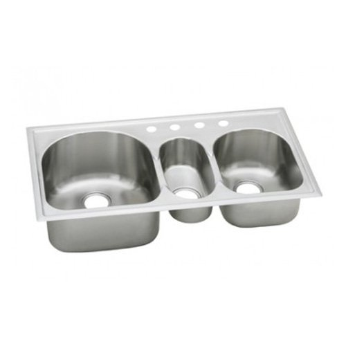 Elkay ECGR4022101 Harmony Deep Bowl Triple Basin Kitchen Sink