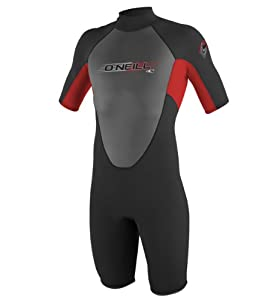 O'Neill Wetsuits Youth Reactor 2mm Spring Suit, Black/Red/Black, 8
