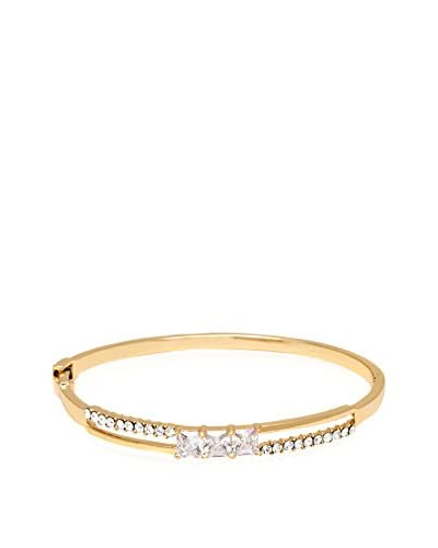 Barzel Sparkle Triple-Stone Swarovski Elements Bangle Bracelet