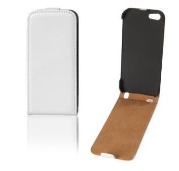 Handytasche Flip Case weiss für Apple Iphone