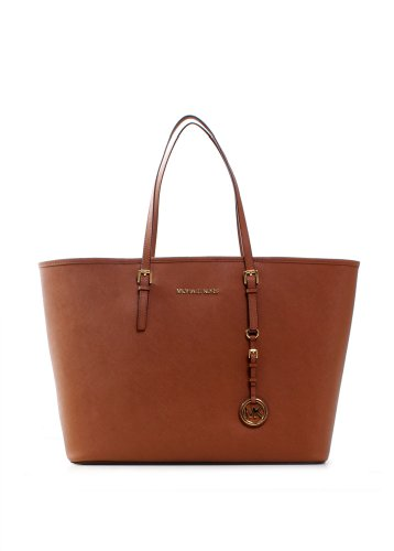 Michael Kors Jet Set Women's Travel Tote Handbag Purse Brown