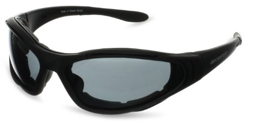 Bobster Raptor Round Sunglasses,Black Frame/3 Lenses (Smoked, Amber And Clear),One Size