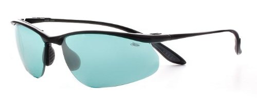 Bolle Sunglasses Kicker Shiny Black Frame with Competivision Gun Tennis Lenses