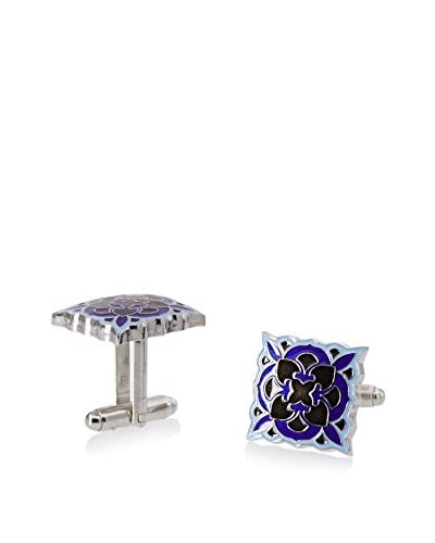 L2 by LOMA Black and Blue Deco Bloom Cufflinks