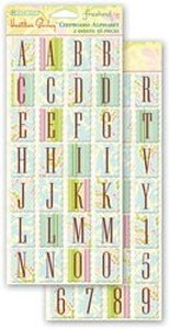 Autumn Leaves Chipboard Alphabet Stickers, Heather Bailey Freshcut