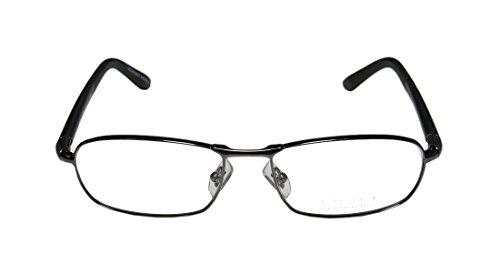 Oga 7020O Mens Rx Ready Prestigious Designer Designer Full-rim Flexible Hinges Eyeglasses/Glasses (55-17-140, Gunmetal / (Atlanta Braves Skin Suit Kids Costume)