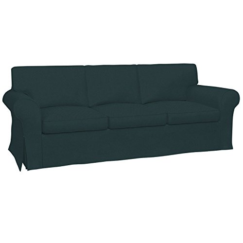 ektorp 3er bettsofa bezug petrol panama cotton designed by stolm. Black Bedroom Furniture Sets. Home Design Ideas