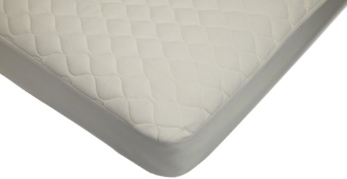 American Baby Company Organic Waterproof Natural Quilted Fitted Crib and Toddler Bed Mattress pad Cover