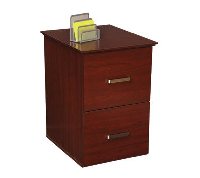 OfficeMax Mahogany Finish 2-Drawer Vertical File Cabinet
