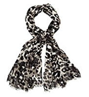 Per Una Sequin Embellished Animal Print Scarf