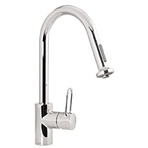 Hansgrohe Metro E High Arc Pull Out Kitchen Faucet Chome 06697005 Touch On Kitchen Sink
