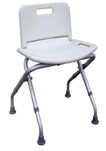 Portable Folding Medical Bathtub Shower Seat Chair Bench Stool w Back
