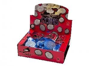 Elite Hanukkah Chocolate Coins - Box 24 Sacks, Flavor: Bittersweet