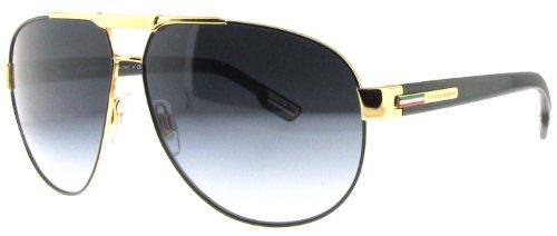 Dolce & Gabbana DG2099 Sunglasses-1081/8G Gold Black (Gray Gradient Lens)-61mm