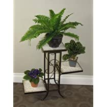 3 Tier 4D Concepts Travertine Plant Stand