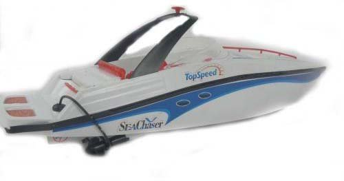 WHITE RC SEA CHASER 1:25 RADIO CONTROL MOSQUITO RACING SPEED BOAT YACHT 757T-4023