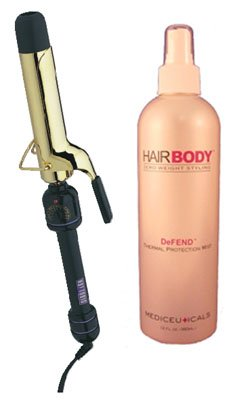 1-1/4″ Curling Iron & Defend Combo * Includes: 1-1/4″ Spring Grip Hot Tools & 12oz Defend Thermal