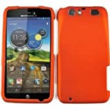 RUBBERIZED PHONE CASE FOR MOTOROLA ATRIX HD MB886 BURNT ORANGE