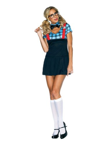 Adult-Costume Naughty Nerd Sm-Med Adult Costume 4-8 Halloween Costume