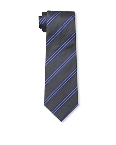 Givenchy Men's Stripe Tie, Grey/Blue