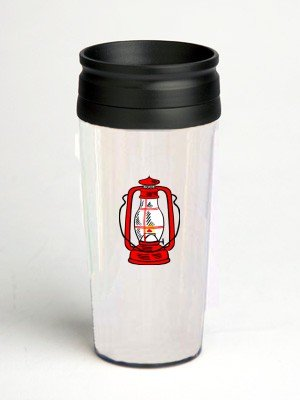 16 oz. Double Wall Insulated Tumbler with red hurricane lamp - Paper Insert