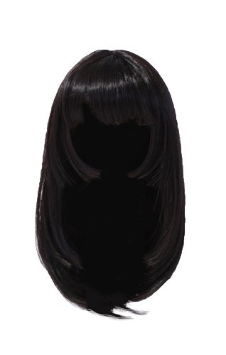 Wig Selection semi-long (natural black) MW-009