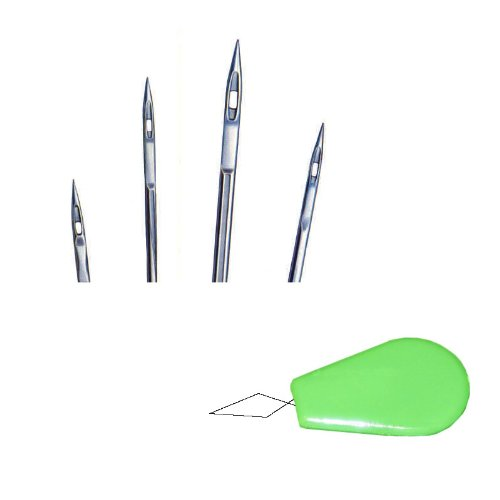 50pcs Size 16 18 20 21 23 Organ 135x16 Triangle Leather Point Industrial Sewing Machine Needle + Free Gift (Green Threader) (Machine Industrial Juki compare prices)