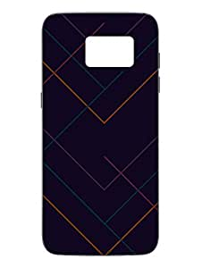 Abstract Lines - Pattren - Designer Printed Hard Back Shell Case Cover for Samsung S7 Superior Matte Finish Samsung S7 Cover Case