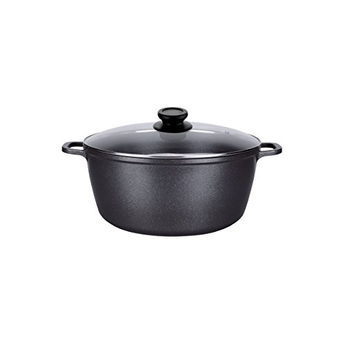 ALPHA Nonstick Marble Stone Coating Stock Pot with Lid (10 Qt)