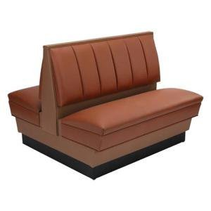"""American Tables & Seating AD36-66U-D Double Deuce Alex Style Upholstered Booth - 36"""" High"""