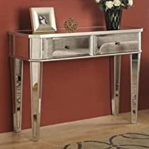 Big Sale Powell Mirrored Console with Silver Wood