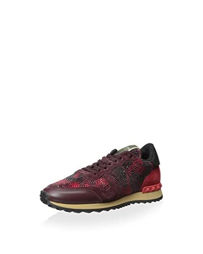 Valentino Women's Camoscio & Strass Sneaker