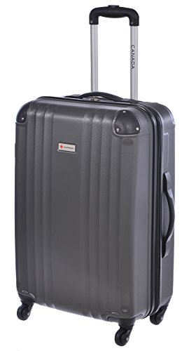 Canada 24 inch Charcoal Lightweight Hard Side Wheeled Suitcase