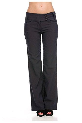 G2 Chic Women's Solid Millennium Sleek Office Dress Pants  Medium  Dark Grey-A3 (Women Pinstripe Pants compare prices)