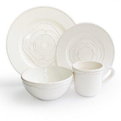 American Atelier Gabrielle 16-Piece Dinnerware Set, White