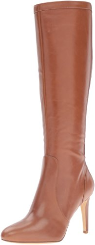 Nine West Women's Holdtight Leather Winter Boot, Cognac, 7.5 M US