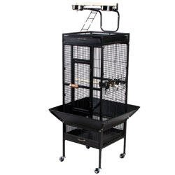 Cheap Select Wrought Iron Cockatiel Cage (3151BLK)