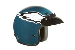 Brogies Bikewear NFL Philadelphia Eagles Motorcycle Three Quarter Helmet (Green,... by Brogies Bikewear