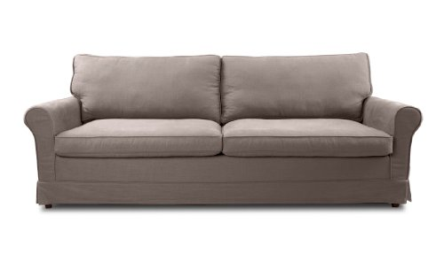 FASHION FOR HOME 3-Sitzer-Sofa Bloomsbury Grau-Braun Premium
