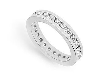 Cubic Zirconia Eternity Band .925 Sterling Silver - 1.00 CT TGW MADE IN USA