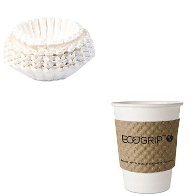 KITBUN1M5002ECOEG2000 - Value Kit - ECO-PRODUCTS,INC. EcoGrip Recycled Content Hot Cup Sleeve (ECOEG2000) and Bunn Coffee Commercial Coffee Filters (BUN1M5002)