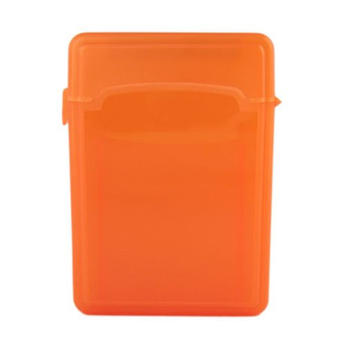 Apple House Store 2.5 Inch Plastic Sata Hdd Ide Hard Drive Storage Enclosure Box Case Orange Ah