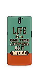 Casenation Use Life Well OnePlus One Glossy Case