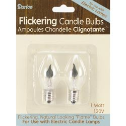 Bulk Buy: Darice Candle Lamp Collection Flickering Welcome Candle Bulbs 120V 3 Watt 2/Pkg 6400B (6-Pack)