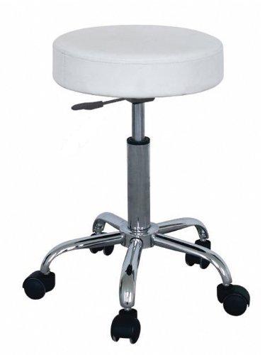 marsella store sixbros tabouret roulettes de travail blanc m 95027 193. Black Bedroom Furniture Sets. Home Design Ideas