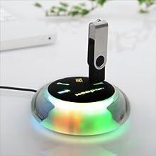 LEDライト 幻想的に美しく光る USBハブ 4ポート 400-HUB010