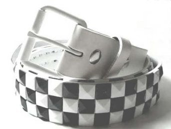 MENS/WOMENS LARGE (38-40) CHECKERBOARD WHITE