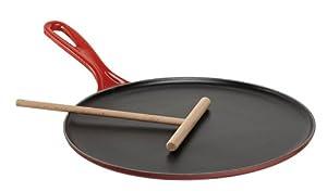 Le Creuset Enameled Cast-Iron Crepe Pan, 10-2/3-Inch, Cherry