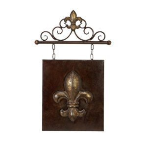 Fleur de lis design metal wall decor home for Fleur de lis home decorations